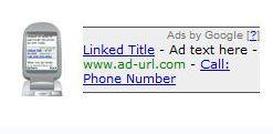 Adsense pour téléphone mobile