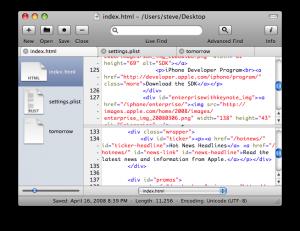 smultron editeur de texte sous Mac OS X