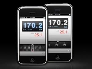 Gérer sa courbe de poids sur iPhone