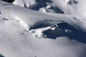 La montée vers le Mont Blanc du Tacul
