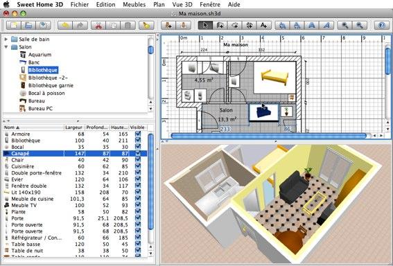 sweet home 3d : un logiciel mac gratuit pour aménager son ... - Amenager Son Interieur En 3d Gratuitement