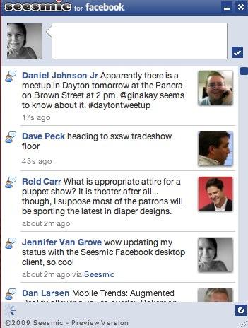 Seesmic lance un client Facebook pour ordinateur