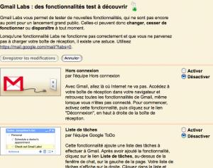 Gmail Labs est disponible en français