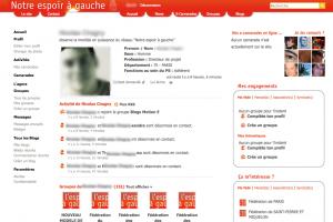 Réseau social de Ségolène Royal et de l'espoir à Gauche