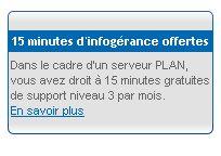 OVH offre une infogérance de 15 minutes par mois ? Et bien non...