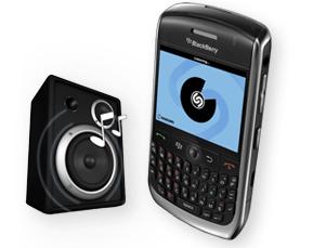 Shazam disponible sur Blackberry