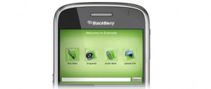 Evernote sur Blackberry
