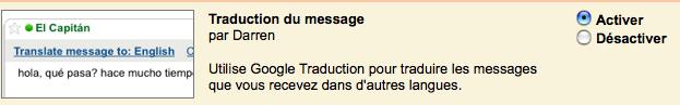Activer la traduction des mails dans GMAIL