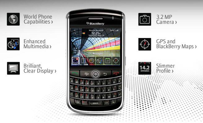 Sortie du Blackberry 9630 Tour