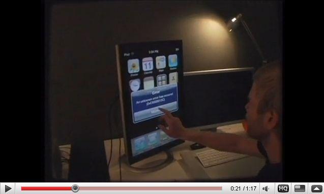 Vidéo de l'OS 3.0 de l'iPhone sur un écran 24 pouces de MacPro