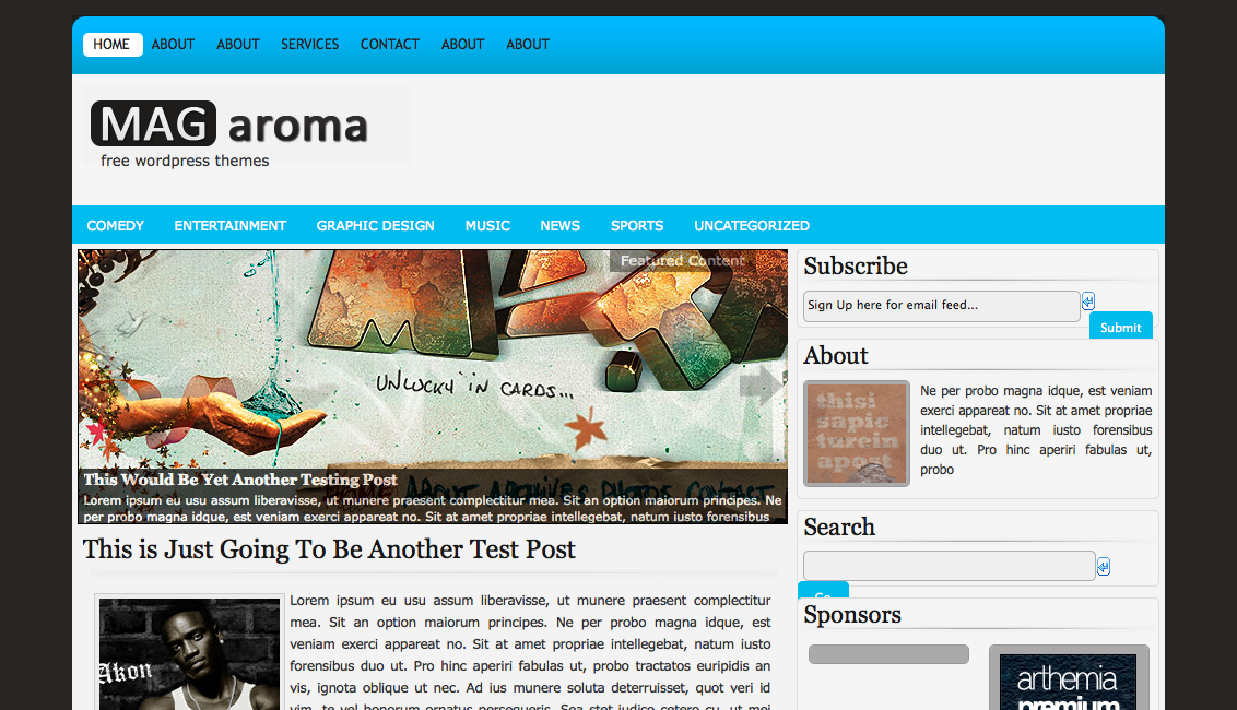 Theme WordPress Magazine MagAroma