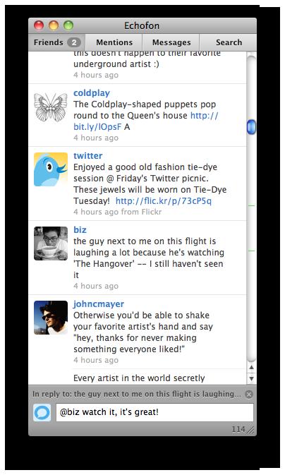 Echofon, un nouveau client Twitter pour Mac