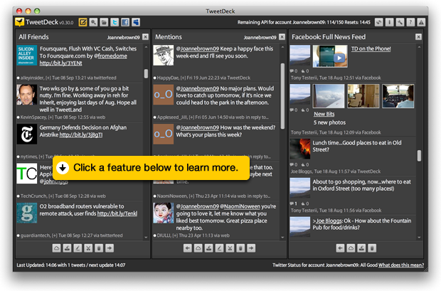 Tweetdeck 0.30 compatible Myspace