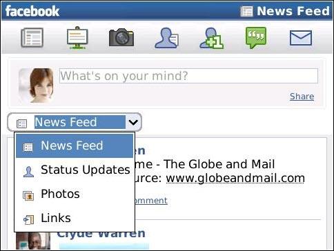 Sortie de Facebook 1.7 pour Bladckberry