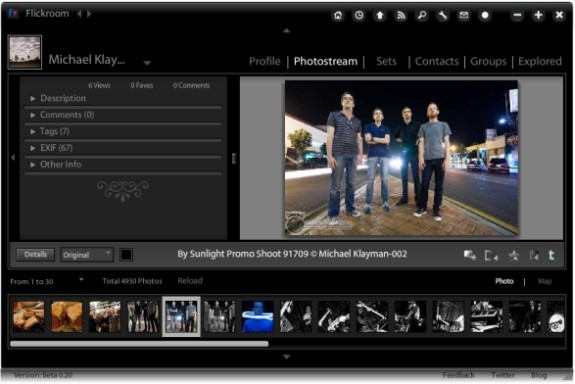 Flickroom une application adobe air pour naviguer dans Flickr