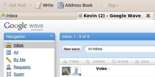 Comment intégrer Google Wave à Thunderbird 3 ?