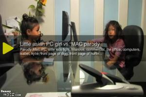 Vidéo de deux petites filles fans de MAC / PC