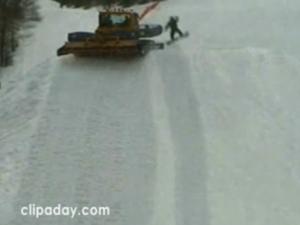 Le snowboarder le plus chanceux