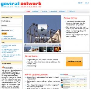 Goviral Network : monétisation de vidéos virales