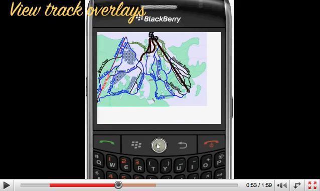 Berryski pour visualiser les pistes de ski sur Blackberry