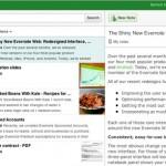 Une nouvelle interface web pour Evernote